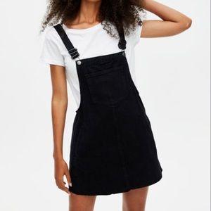 Pull & Bear Black Pinafore Dress Denim Overalls
